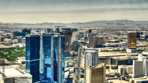 Poster Las Vegas The Strip of Las Vegas - Hotels Aereal View