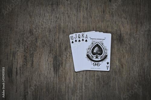 Poster flash royal spades. poker game combination