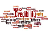 Credibility, word cloud concept