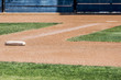homeplate and first base on a baseball diamond