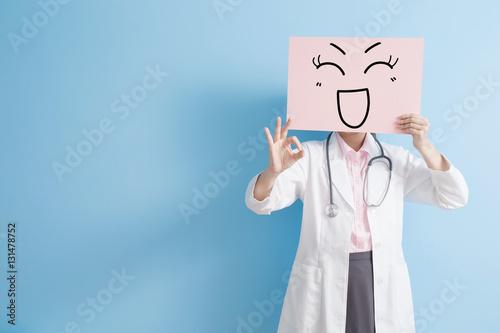 woman doctor take happy billboard Poster