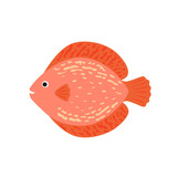 The aquarium fish discus pink