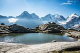 Fuorcla Surlej, Blick zur Berninagruppe