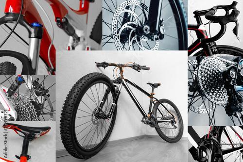 Poster  frame bike parts