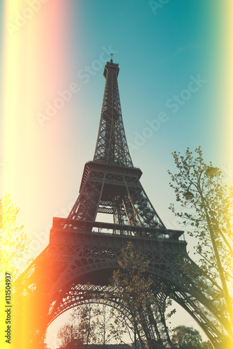 Eiffel Tower vitage color stylized with film light leaks Photo by Dmytro Sukharevskyi