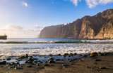 Amazing view of beach in Los Gigantes, Tenerife, Canary islands