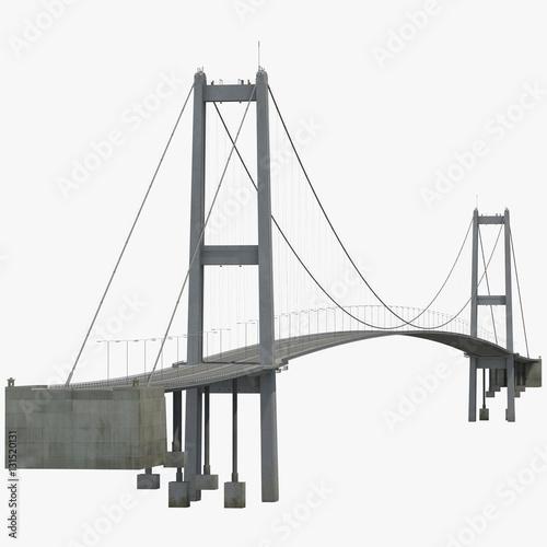 Poster Bosphorus Bridge on white. 3D illustration