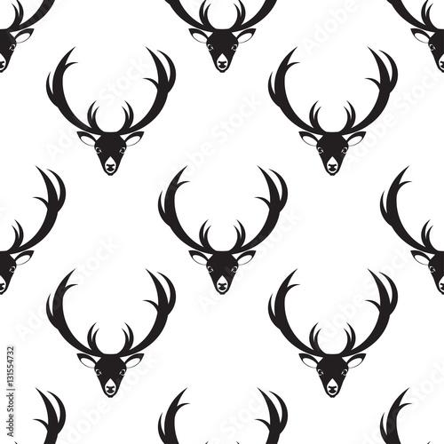 Plexiglas Hipster Hert bnw deer pattern