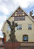 Sculpture of Archangel Michael in Mora. Sweden