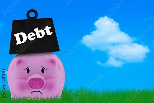 Debt Conccept, Financial Crisis Poster