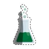 Flask chemistry lab icon vector illustration graphic design