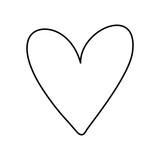 Heart love silhouette icon vector illustration graphic design