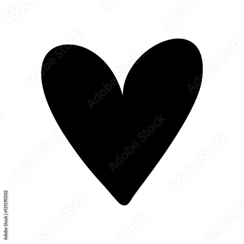 Heart love silhouette icon vector illustration graphic design