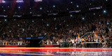 Fototapety Basketball court with people fan. Sport arena.Photoreal 3d rende