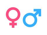 Gender symbol pink and blue - 131618102
