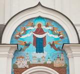 Icon of the Intercession of the Theotokos Orthodox church decorates