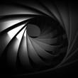 Black spiral structure, 3d illustration