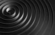 Black round spiral, abstract digital render