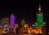 Centrum Warszawy w nocy - 131644595