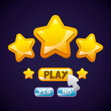 video game interface with stars icon. colorful design. vector illustration