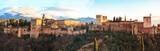 Fototapeta Sunset at the Alhambra in Granada.