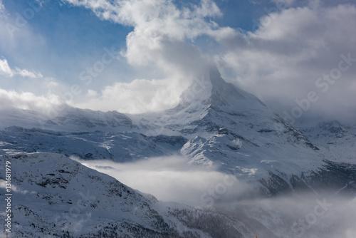 Poster mountain matterhorn zermatt switzerland