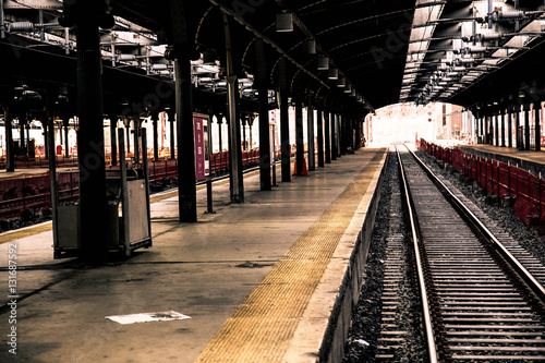 Train at Hoboken Station, New Jersey