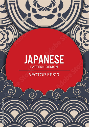 Japanese pattern design vector EPS10 © memorystockphoto