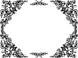 black frame from triangular decorations
