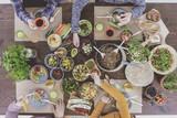 Vegetarians having dinner