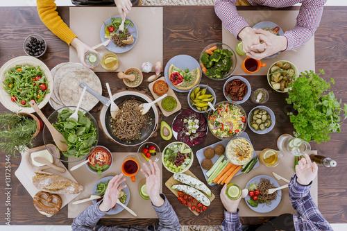 Vegan and vegetarian food - 131725346