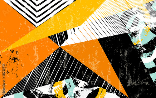 abstract geometric pattern background, with triangles, strokes a