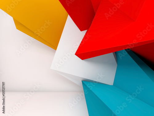 Abstract 3d render interior background © eugenesergeev