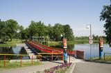 понтонный пешеходный мост. Белоруссия