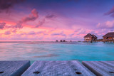 Wonderful twilight time at tropical beach resort in Maldives - 131737705