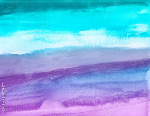 Wet in wet watercolors on textured paper