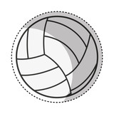 volleyball sport isolated icon vector illustration design