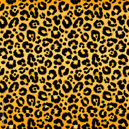 obraz lub plakat Seamless leopard pattern. Vector.