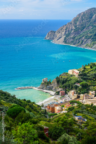 Poster Bird's-eye view of Monterosso al mare, Cinque Terre National Park