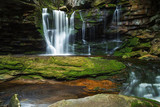 BLACKWATER FALLS STATE PARK, WV/USA - JUNE 30, 2016: A long expo
