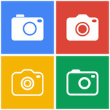 Photo icon set.