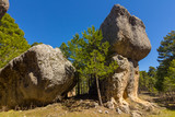 Rocks with capricious forms in the enchanted city of Cuenca, Spain