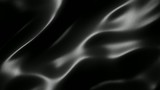 Black wavy fabric motion background seamless loop