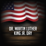 Dr. Martin Luther King Jr. Day design. EPS 10 vector.