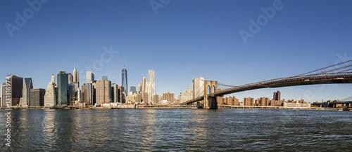 Fotobehang Brooklyn Bridge manhattan skyline seen from Brooklyn side