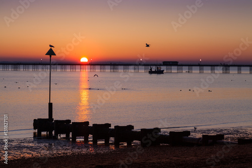 Southend Pier at Sunset Poster