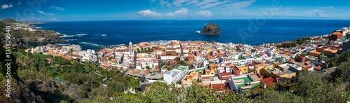 Fotobehang Canarische Eilanden Panorama of Garachico town on the coast of Tenerife