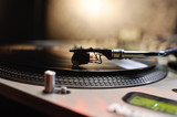 vinyl record in close-up. club music