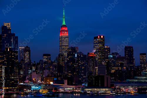 Foto op Aluminium New York New York Manhattan skyline nightscape