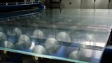 Contemporary equipment. Modern robotic line for production of frosted glass. HD